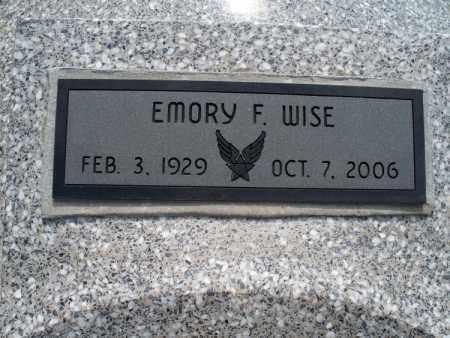 WISE, EMORY F. - Montgomery County, Kansas   EMORY F. WISE - Kansas Gravestone Photos