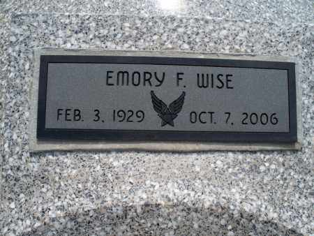 WISE, EMORY F. - Montgomery County, Kansas | EMORY F. WISE - Kansas Gravestone Photos