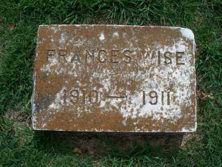 WISE, FRANCES - Montgomery County, Kansas | FRANCES WISE - Kansas Gravestone Photos
