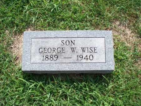 WISE, GEORGE W - Montgomery County, Kansas | GEORGE W WISE - Kansas Gravestone Photos