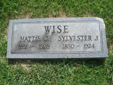 WISE, HATTIE J. - Montgomery County, Kansas | HATTIE J. WISE - Kansas Gravestone Photos