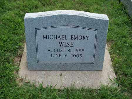 WISE, MICHAEL EMORY - Montgomery County, Kansas   MICHAEL EMORY WISE - Kansas Gravestone Photos