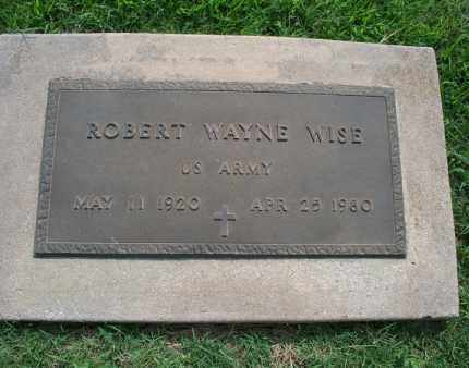WISE, ROBERT WAYNE   (VETERAN) - Montgomery County, Kansas | ROBERT WAYNE   (VETERAN) WISE - Kansas Gravestone Photos