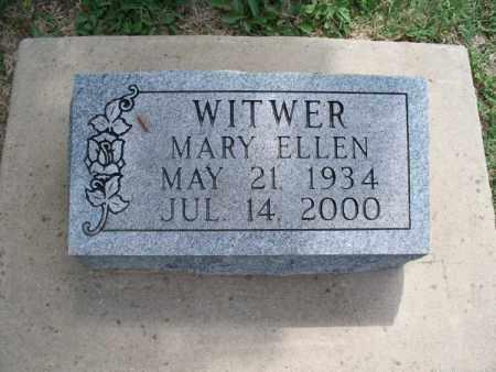 WITWER, MARY ELLEN - Montgomery County, Kansas   MARY ELLEN WITWER - Kansas Gravestone Photos