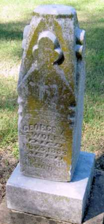 WOLF, GEORGE A - Montgomery County, Kansas | GEORGE A WOLF - Kansas Gravestone Photos
