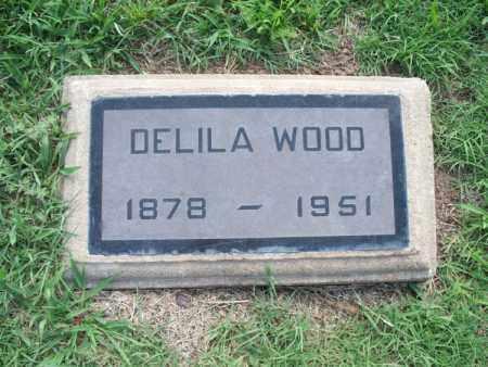 WOOD, DELILA - Montgomery County, Kansas   DELILA WOOD - Kansas Gravestone Photos