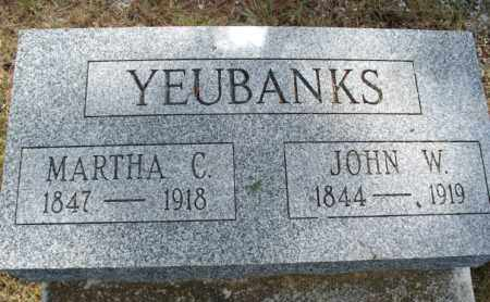 YEUBANKS, JOHN W - Montgomery County, Kansas | JOHN W YEUBANKS - Kansas Gravestone Photos