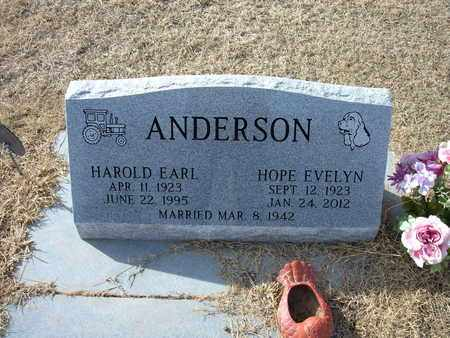 ANDERSON, HAROLD EARL - Morton County, Kansas   HAROLD EARL ANDERSON - Kansas Gravestone Photos
