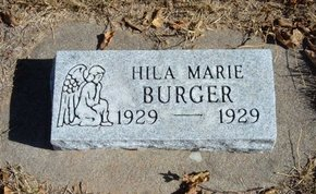 BURGER, HILA MARIE - Morton County, Kansas   HILA MARIE BURGER - Kansas Gravestone Photos