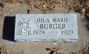 BURGER, HILA MARIE - Morton County, Kansas | HILA MARIE BURGER - Kansas Gravestone Photos