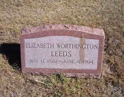 LEEDS, ELIZABETH  - Morton County, Kansas | ELIZABETH  LEEDS - Kansas Gravestone Photos