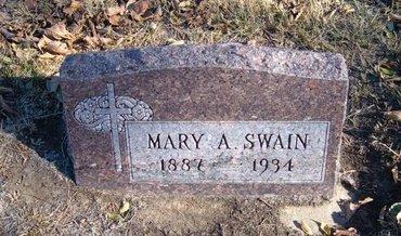 SWAIN, MARY A - Morton County, Kansas | MARY A SWAIN - Kansas Gravestone Photos