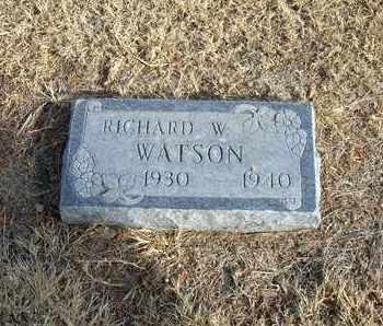 WATSON, RICHARD W - Morton County, Kansas   RICHARD W WATSON - Kansas Gravestone Photos