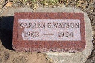 WATSON, WARREN G - Morton County, Kansas | WARREN G WATSON - Kansas Gravestone Photos