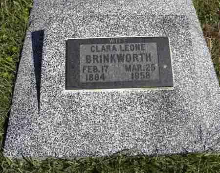 BRINKWORTH, CLARA LEONE - Nemaha County, Kansas | CLARA LEONE BRINKWORTH - Kansas Gravestone Photos