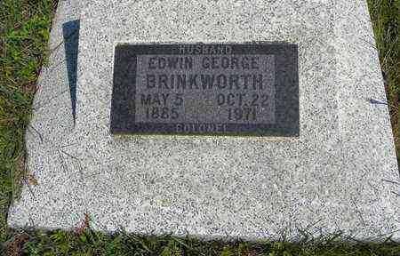 BRINKWORTH, EDWIN GEORGE, COLONEL - Nemaha County, Kansas | EDWIN GEORGE, COLONEL BRINKWORTH - Kansas Gravestone Photos