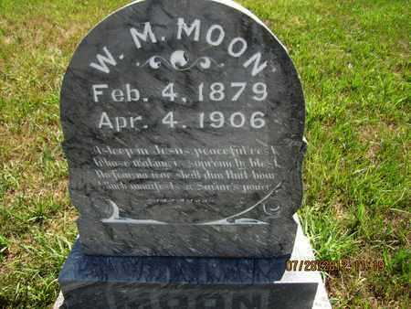MOON, W M - Riley County, Kansas   W M MOON - Kansas Gravestone Photos