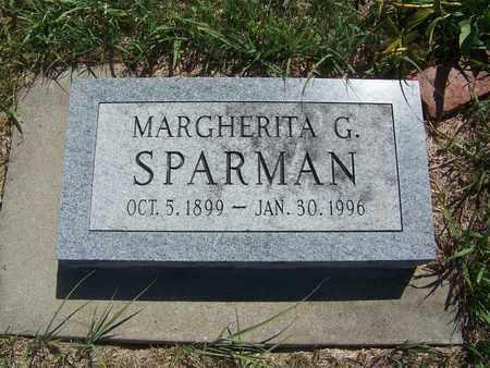 SPARMAN, MARGHERITA G - Riley County, Kansas | MARGHERITA G SPARMAN - Kansas Gravestone Photos
