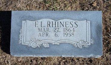 RHINESS, F. L. - Seward County, Kansas | F. L. RHINESS - Kansas Gravestone Photos