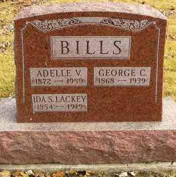 BILLS, ADELLE V - Shawnee County, Kansas | ADELLE V BILLS - Kansas Gravestone Photos