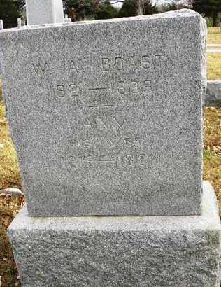 BOAST, WILLIAM A - Shawnee County, Kansas   WILLIAM A BOAST - Kansas Gravestone Photos