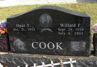 COOK, WILLARD F - Shawnee County, Kansas | WILLARD F COOK - Kansas Gravestone Photos