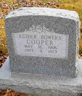 BOWERS COOPER, ESTHER - Shawnee County, Kansas | ESTHER BOWERS COOPER - Kansas Gravestone Photos