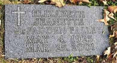 FALLEY, ELIZABETH JEANETTE - Shawnee County, Kansas | ELIZABETH JEANETTE FALLEY - Kansas Gravestone Photos