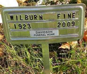 FINE, WILBURN - Shawnee County, Kansas | WILBURN FINE - Kansas Gravestone Photos