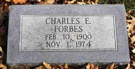 FORBES, CHARLES E - Shawnee County, Kansas | CHARLES E FORBES - Kansas Gravestone Photos