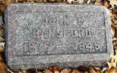 HANSFORD, JOHN T - Shawnee County, Kansas   JOHN T HANSFORD - Kansas Gravestone Photos