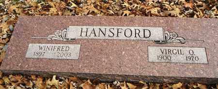 HANSFORD, WINIFRED F - Shawnee County, Kansas | WINIFRED F HANSFORD - Kansas Gravestone Photos