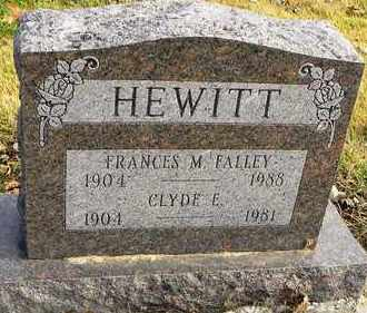 FALLEY HEWITT, FRANCES M - Shawnee County, Kansas | FRANCES M FALLEY HEWITT - Kansas Gravestone Photos