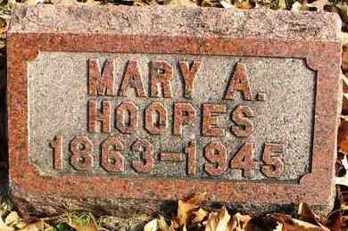 HOOPES, MARY A - Shawnee County, Kansas | MARY A HOOPES - Kansas Gravestone Photos