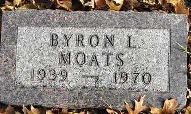 MOATS, BYRON L - Shawnee County, Kansas | BYRON L MOATS - Kansas Gravestone Photos