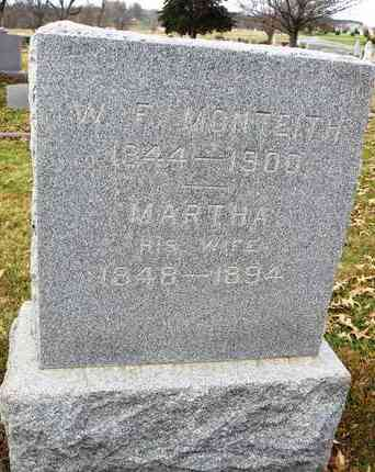 MONTEITH, MARTHA - Shawnee County, Kansas | MARTHA MONTEITH - Kansas Gravestone Photos
