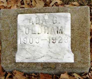 OLDHAM, ADA GRACE - Shawnee County, Kansas | ADA GRACE OLDHAM - Kansas Gravestone Photos