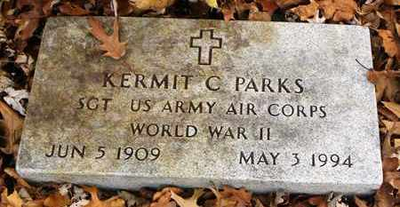 PARKS, KERMIT C   (VETERAN WWII) - Shawnee County, Kansas | KERMIT C   (VETERAN WWII) PARKS - Kansas Gravestone Photos