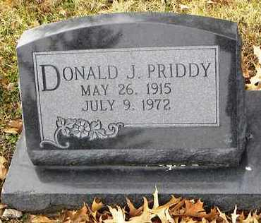 PRIDDY, DONALD J - Shawnee County, Kansas | DONALD J PRIDDY - Kansas Gravestone Photos