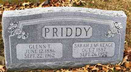 PRIDDY, SARAH J - Shawnee County, Kansas | SARAH J PRIDDY - Kansas Gravestone Photos