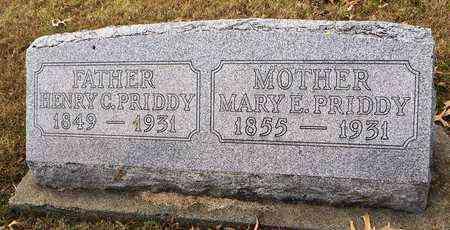 PRIDDY, MARY ELIZABETH - Shawnee County, Kansas | MARY ELIZABETH PRIDDY - Kansas Gravestone Photos