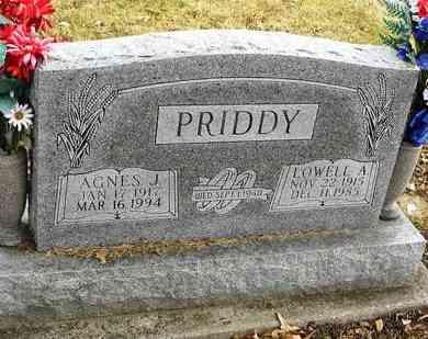 PRIDDY, LOWELL A - Shawnee County, Kansas   LOWELL A PRIDDY - Kansas Gravestone Photos