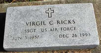 RICKS, VIRGIL C  (VETERAN) - Shawnee County, Kansas | VIRGIL C  (VETERAN) RICKS - Kansas Gravestone Photos