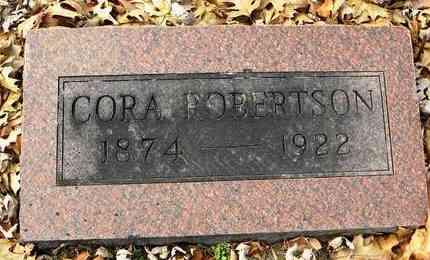 ARCHER ROBERTSON, CORA - Shawnee County, Kansas | CORA ARCHER ROBERTSON - Kansas Gravestone Photos