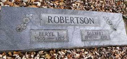 ROBERTSON, DELBERT - Shawnee County, Kansas | DELBERT ROBERTSON - Kansas Gravestone Photos