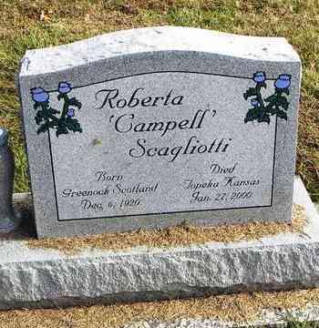 CAMPBELL SCAGLIOTTI, ROBERTA - Shawnee County, Kansas   ROBERTA CAMPBELL SCAGLIOTTI - Kansas Gravestone Photos
