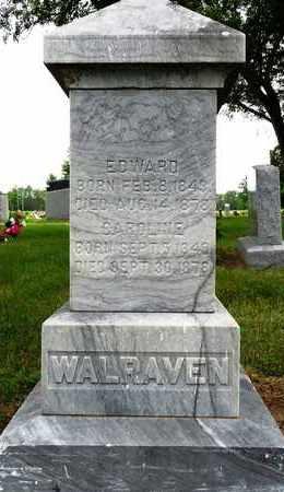 WALRAVEN, EDWARD - Shawnee County, Kansas | EDWARD WALRAVEN - Kansas Gravestone Photos