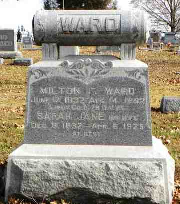 WARD, MILTON F  (VETERAN UNION) - Shawnee County, Kansas   MILTON F  (VETERAN UNION) WARD - Kansas Gravestone Photos
