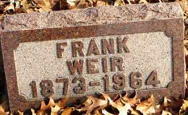 WEIR, FRANK - Shawnee County, Kansas   FRANK WEIR - Kansas Gravestone Photos