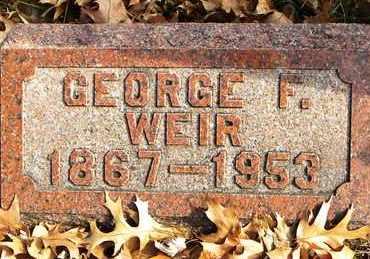 WEIR, GEORGE F - Shawnee County, Kansas   GEORGE F WEIR - Kansas Gravestone Photos
